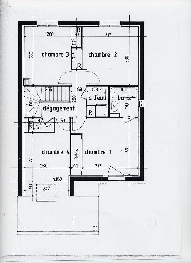 plan maison 8m facade